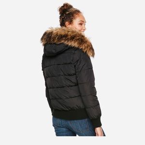 Bomber Puffer Winter Jacket Size S